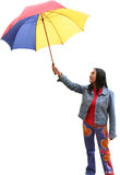 Holding an umbrella Royalty Free Stock Photography