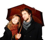 Holding umbrella1 Royaltyfria Foton