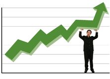 Holding Up Green Stock Chart Royalty Free Stock Photos