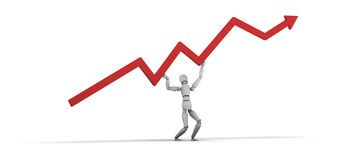 Holding up the increase line Stock Images