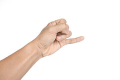 Holding up the little finger royalty free stock image