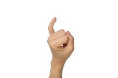 Holding up the little finger Stock Image