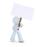 Holding up a picket sign Stock Images