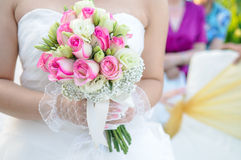 Holding wedding flower Royalty Free Stock Photo