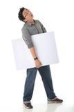 Holding White Board modelo Imagem de Stock