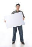 Holding White Board modelo Fotografia de Stock