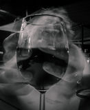 Holding the wine glass long exposure Stock Photos