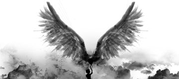 Holding Wings Royalty Free Stock Photos