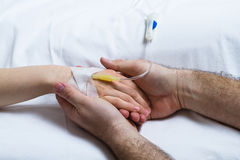 Holding a woman´s hand Royalty Free Stock Images