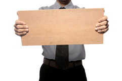 Holding Wooden Board Stock Photos