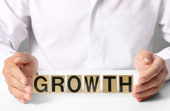 Holding word growth Royalty Free Stock Photography