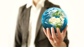 Holding the World. stock footage