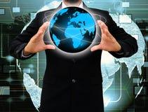 Holding a world Stock Photos