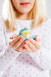 Holding world in hands Stock Photo