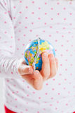 Holding world in your hand Royalty Free Stock Photo