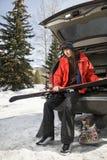 holdingen skidar tonåringen Royaltyfria Bilder