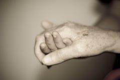 Holdinghände Stockfotografie