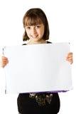 holdingtecken för 2 flicka royaltyfri bild