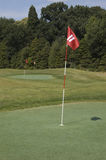 Hole 11. This is hole eleven. In the background two more holes Royalty Free Stock Photos