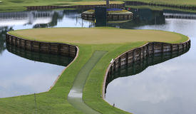 Hole 17, TPC Sawgrass golf, Ponte Vedra, FL Royalty Free Stock Photo