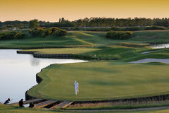 Hole 18 Golf National, Paris Stock Image