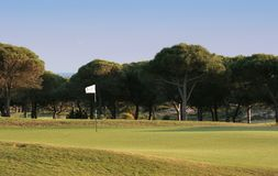 Hole 2 in oitavos golf Royalty Free Stock Photography
