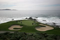 Hole 7 in Pebble Beach Stock Photo