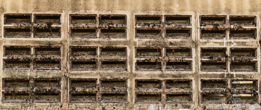 Hole air wall Stock Photo