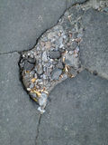 A hole in the asphalt Stock Photography