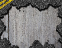 Hole in asphalt road background Stock Photo