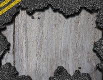 Hole in asphalt road background stock photo