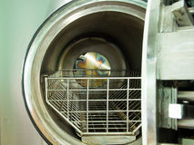 Hole of autoclave Stock Images