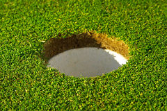 Hole of beautiful golf course Royalty Free Stock Images