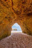 Hole of a big cave, Algarve Portugal Stock Image