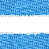 Hole in the blue paper with torn sides paper Royalty Free Stock Photos