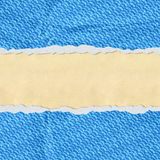 Hole in the blue paper with torn sides paper Royalty Free Stock Photography
