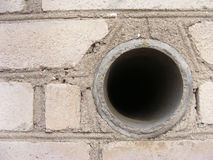 Hole in an break wall. Big hole in an break wall Royalty Free Stock Images
