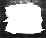 Hole in Brick Wall Royalty Free Stock Images