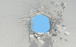 Hole in a brick wall Stock Image