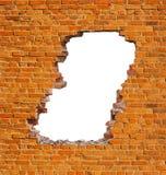 Hole brick wall stock photos