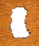 Hole brick wall stock images