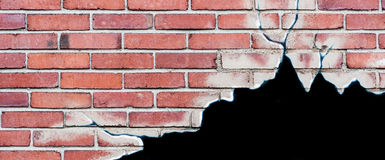 Hole in brick wall concept Royalty Free Stock Photo
