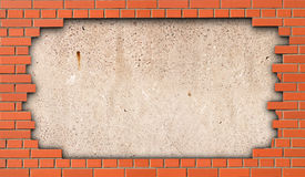 The hole in the brick wall Royalty Free Stock Photo