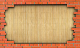 The hole in the brick wall Royalty Free Stock Image