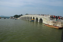 17 hole bridge in summer palace Stock Photo