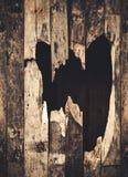 Hole of broken grunge wood Royalty Free Stock Image