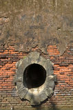 Hole of a castle. Made of bricks provide beautiful color composition Royalty Free Stock Photography