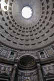 Hole in ceiling of pantheon in Rome Royalty Free Stock Photo
