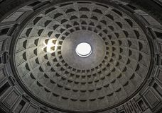 Hole in ceiling of pantheon in Rome. Hole in ceiling of the pantheon in Rome Stock Image