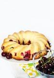 Hole cherry pie Stock Photos